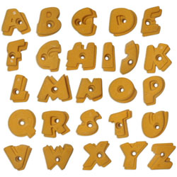 Image for Climbing wall holds alphabet set