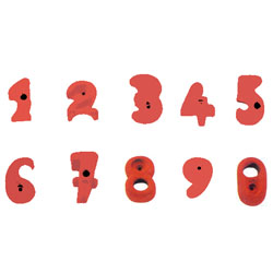 Image for Climbing wall holds number set