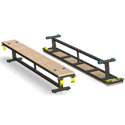 Image for Gym balance benches  8' long