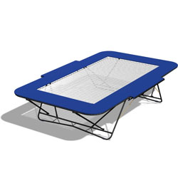 Image for 77A folding trampolines PowerMesh bed