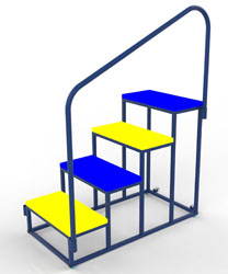 Image for Wheelaway padded steps  Steps with handrail