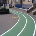 Court markings external Badminton