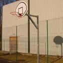 Basketball goals fan shaped board Fan shaped board