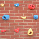 Climbing wall holds set