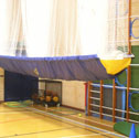Cricket nets ceiling storage
