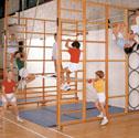 Foldover double climbing frame
