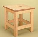 Wood stool 350mm high