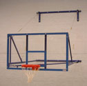 Basketball goal, side folding 2.2m projection