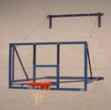 Basketball goal, side folding 2.2m projection