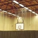 Basketball goals backward folding