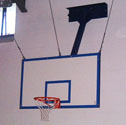 Basketball goals unistem forward folding Up to 4m projection