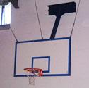 Basketball goals unistem forward folding Up to 4m projection