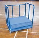 Aerobic mat trolley